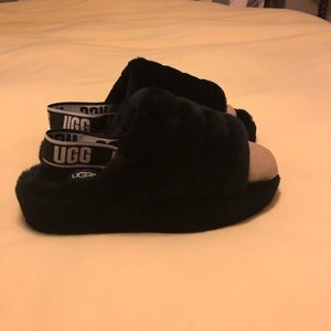"""Fluff yeah"" genuine shearling ugg slide slipper"